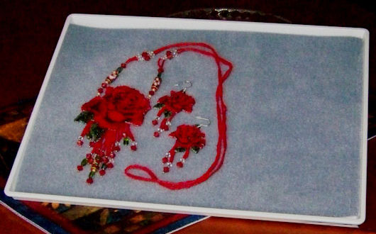 Rose Purse/Earrings